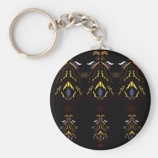 Chaveiro Mandalas populares luxuosas no preto