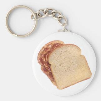 Chaveiro Manteiga de amendoim e sanduíche da geléia