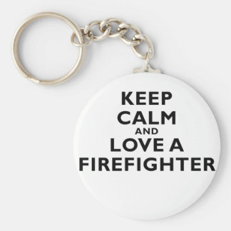 Chaveiro Mantenha a calma e ame um sapador-bombeiro