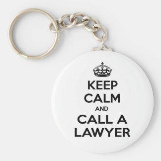 Chaveiro Mantenha a calma e chame um advogado
