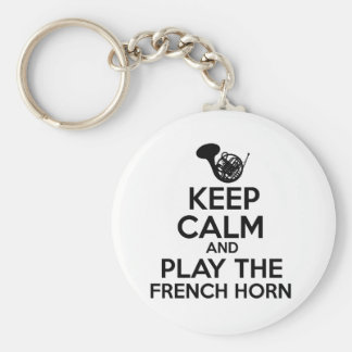 Chaveiro Mantenha a calma e jogue a trompa francesa