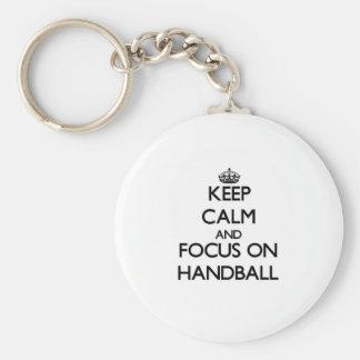 Chaveiro Mantenha a calma e o foco no handball