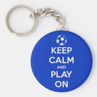 Chaveiro Mantenha a calma e o jogo no azul