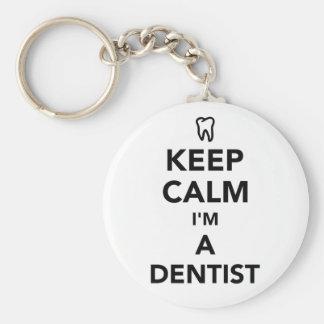 Chaveiro Mantenha a calma que eu sou um dentista