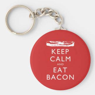 Chaveiro Mantenha calmo e coma o bacon