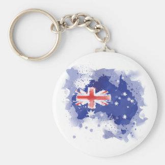 Chaveiro Mapa da aguarela de Austrália