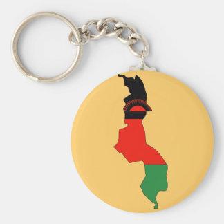 Chaveiro Mapa da bandeira de Malawi