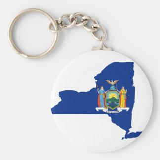 Chaveiro Mapa da bandeira de New York