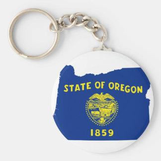 Chaveiro Mapa da bandeira de Oregon