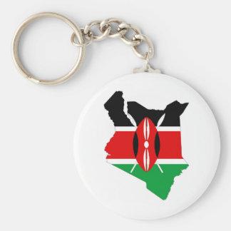 Chaveiro mapa da bandeira de país de kenya