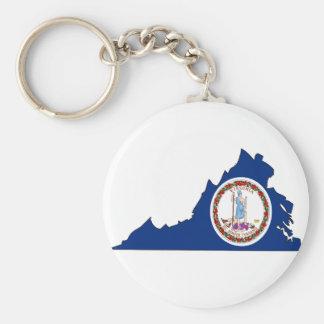Chaveiro Mapa da bandeira de Virgínia