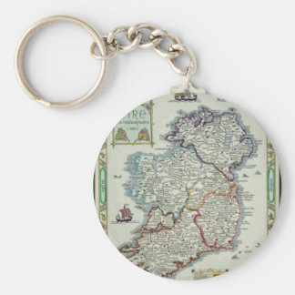 Chaveiro Mapa de Ireland - mapa histórico de Eire Erin do