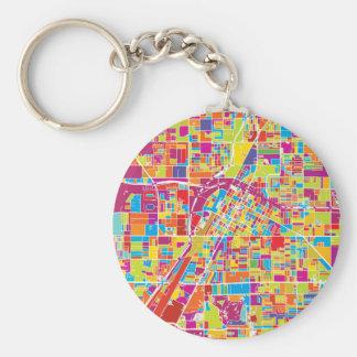 Chaveiro Mapa de Las Vegas colorido, Nevada