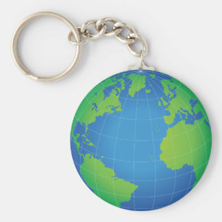 Chaveiro Mapa do globo do mundo