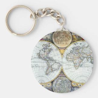 Chaveiro Mapa do mundo antigo, atlas Maritimus pelo