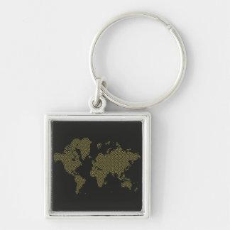 Chaveiro Mapa do mundo de Digitas