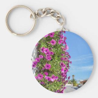 Chaveiro Margaridas espanholas cor-de-rosa de suspensão na