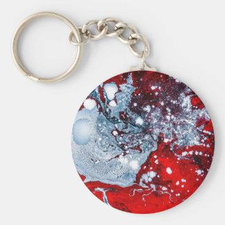 Chaveiro Mármore vermelho e azul do espaço