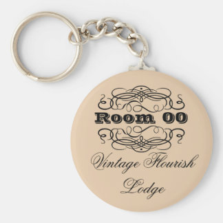 Chaveiro Marrom da sala de hotel da tipografia do vintage