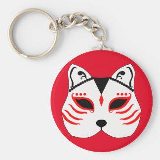 Chaveiro Máscara japonesa do gato