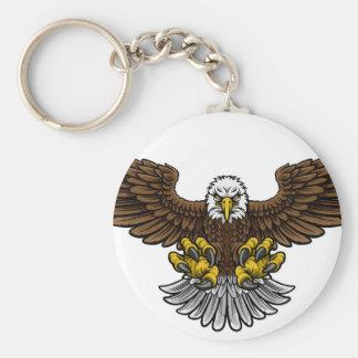 Chaveiro Mascote calva de Eagle do americano