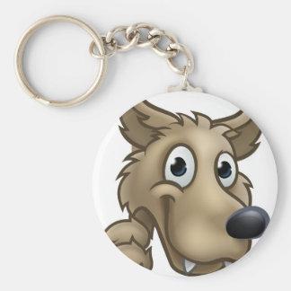 Chaveiro Mascote do personagem de desenho animado do lobo