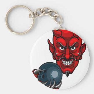 Chaveiro Mascote dos esportes da boliche do diabo