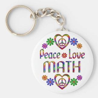 Chaveiro Matemática do amor da paz