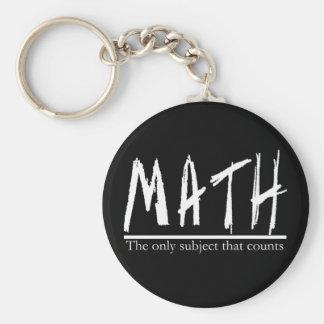 Chaveiro Matemática. O único assunto que conta. Piada da