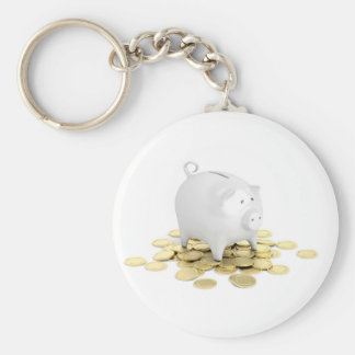 Chaveiro Mealheiro e moedas