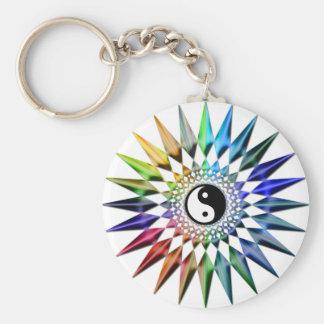 Chaveiro Meditação colorida Tao da ioga calma do zen de Yin