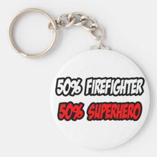 Chaveiro Meio super-herói do sapador-bombeiro… parcialmente