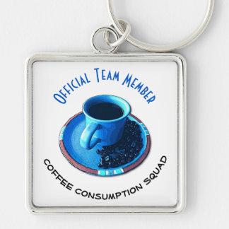Chaveiro Membro da equipa do pelotão | do consumo do café