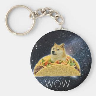 Chaveiro meme do taco do espaço do doge