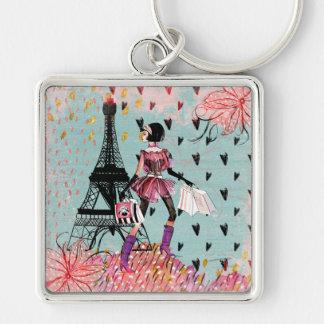 Chaveiro Menina da forma em Paris