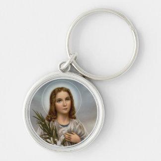 Chaveiro Menina do lírio de Maria Goretti do santo