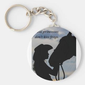 Chaveiro Menina que beija o cavalo