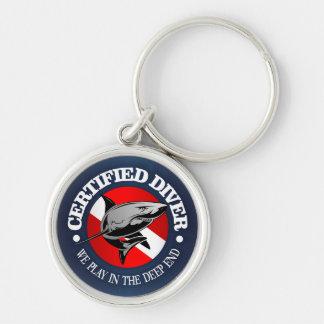 Chaveiro Mergulhador certificado (tubarão)
