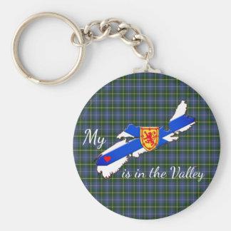 Chaveiro Meu coração está na corrente chave de Nova Escócia