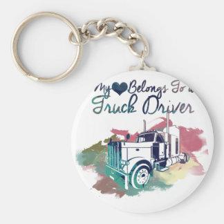 Chaveiro Meu coração pertence a um camionista