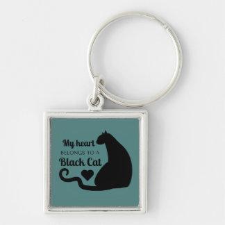 Chaveiro Meu coração pertence a um gato preto