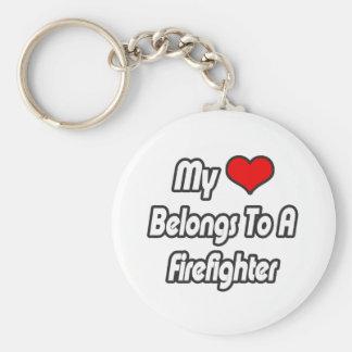 Chaveiro Meu coração pertence a um sapador-bombeiro