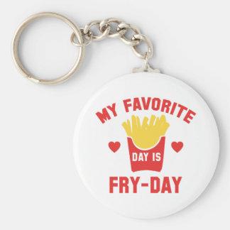Chaveiro Meu dia favorito é Fritada-Dia