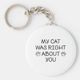 Chaveiro Meu gato era direito