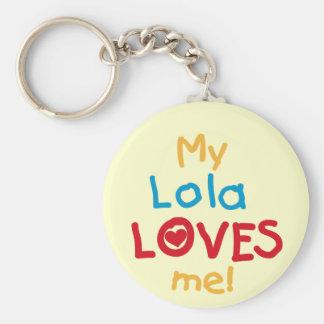 Chaveiro Meu Lola ama-me t-shirt e presentes
