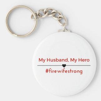 Chaveiro Meu marido, meu botão da corrente chave do herói