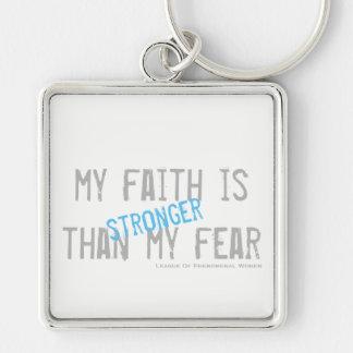 Chaveiro Minha fé é mais forte do que meu medo