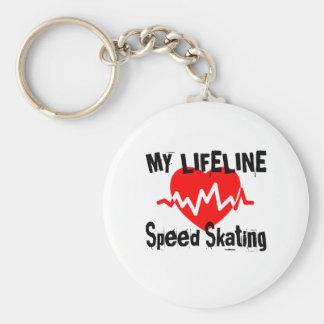 Chaveiro Minha linha design de patinagem da vida dos