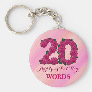 Chaveiro modelo floral do 20o rosa cor-de-rosa do