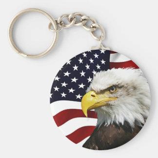 Chaveiro Moderno 4o julho EUA embandeira o patriota de